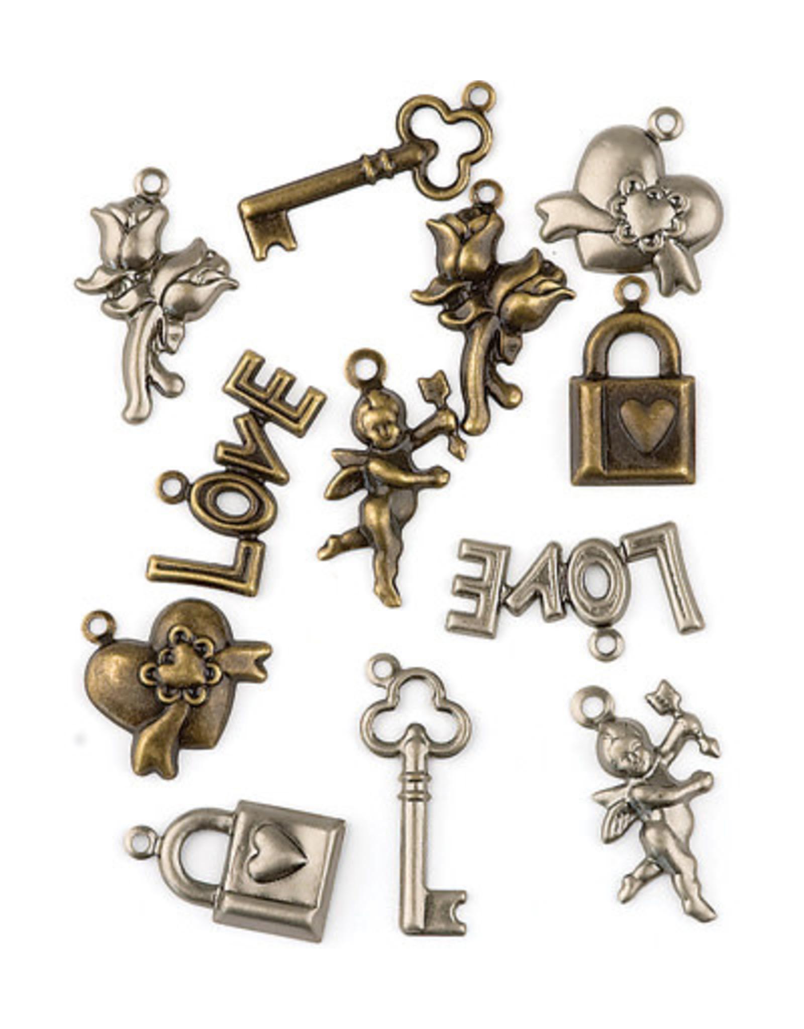 Hobby fun hobbyfun love Assortie, brons en zilver 11810-1006