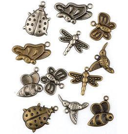 Hobby fun Hobby fun Assortie, brons en zilver vlinder 11810-1002