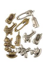 Hobby fun Hobbyfun Assortie, brons en zilver Baby 11810-1008