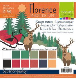 Vaessen Creative Vaessen Creative Florence • Cardstock multipack 30,5x30,5cm Kerst