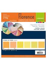 Vaessen Creative Vaessen Creative Florence • Cardstock multipack 30,5x30,5cm Geel