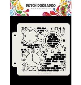 Dutch Doobadoo Dutch Doobadoo Dutch Mask Art Grunge Clock 163x148 470.715.154