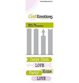 Craft Emotions CraftEmotions Die - tekst Signs Card 5x10cm