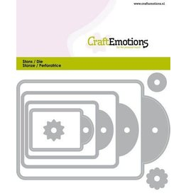 Craft Emotions CraftEmotions Die - labels 4 formaten Card 11x9cm - 44, 61, 82, 177 mm
