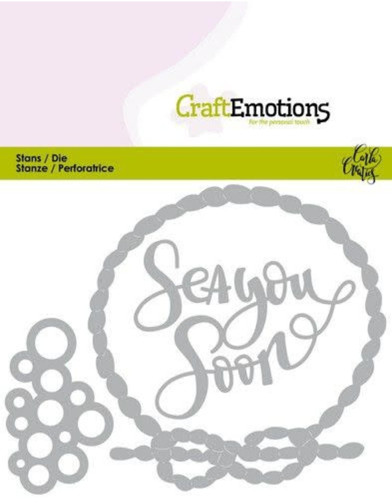 Craft Emotions CraftEmotions Die - Ocean - Sea You Soon Card 11x9cm Carla Creaties