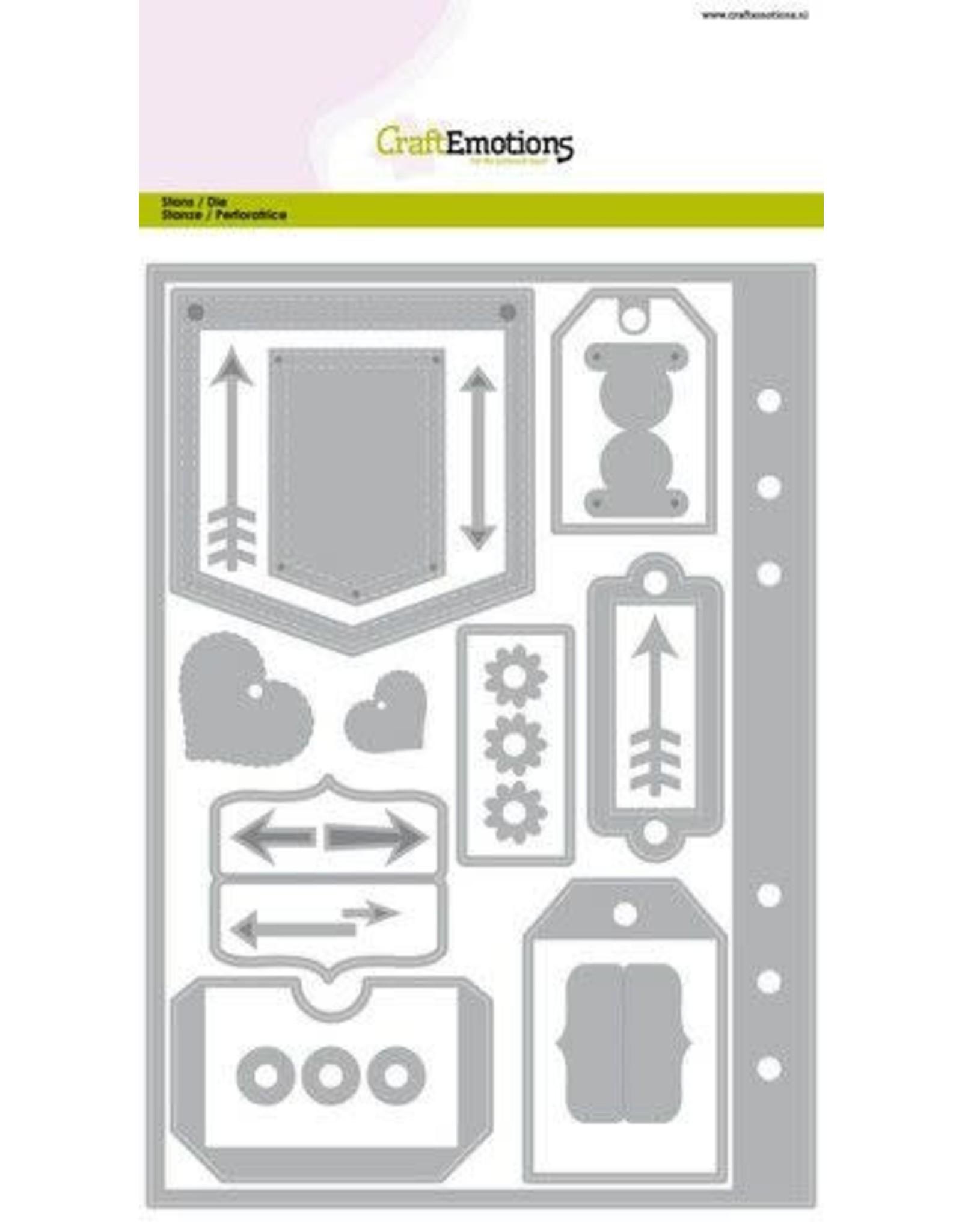 Craft Emotions CraftEmotions Die - Planner essentials 1 Card A5