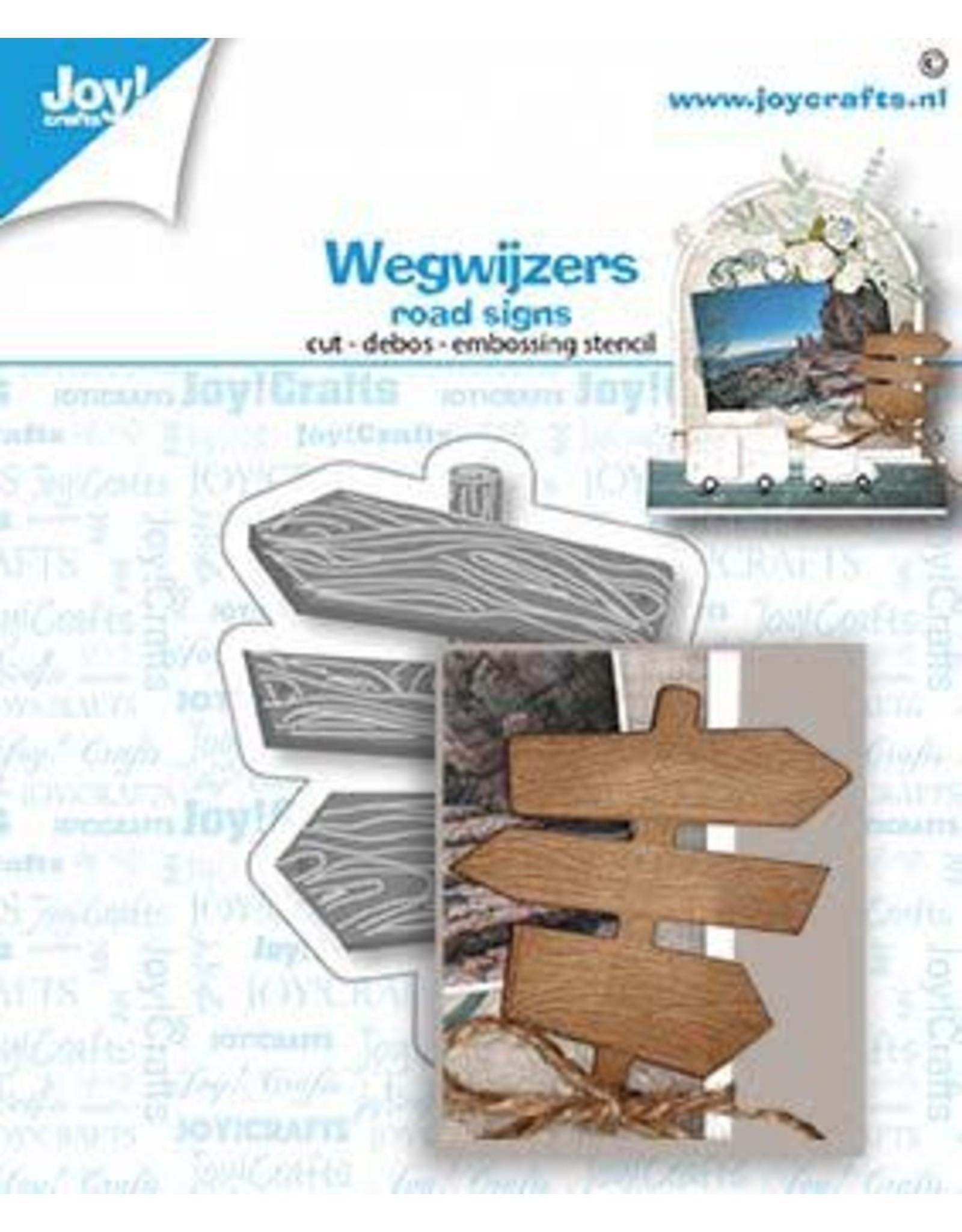 Joy Craft Joy! Crafts Snij-debos-embosstansmal - Wegwijzers 6002/1479 59x48 mm