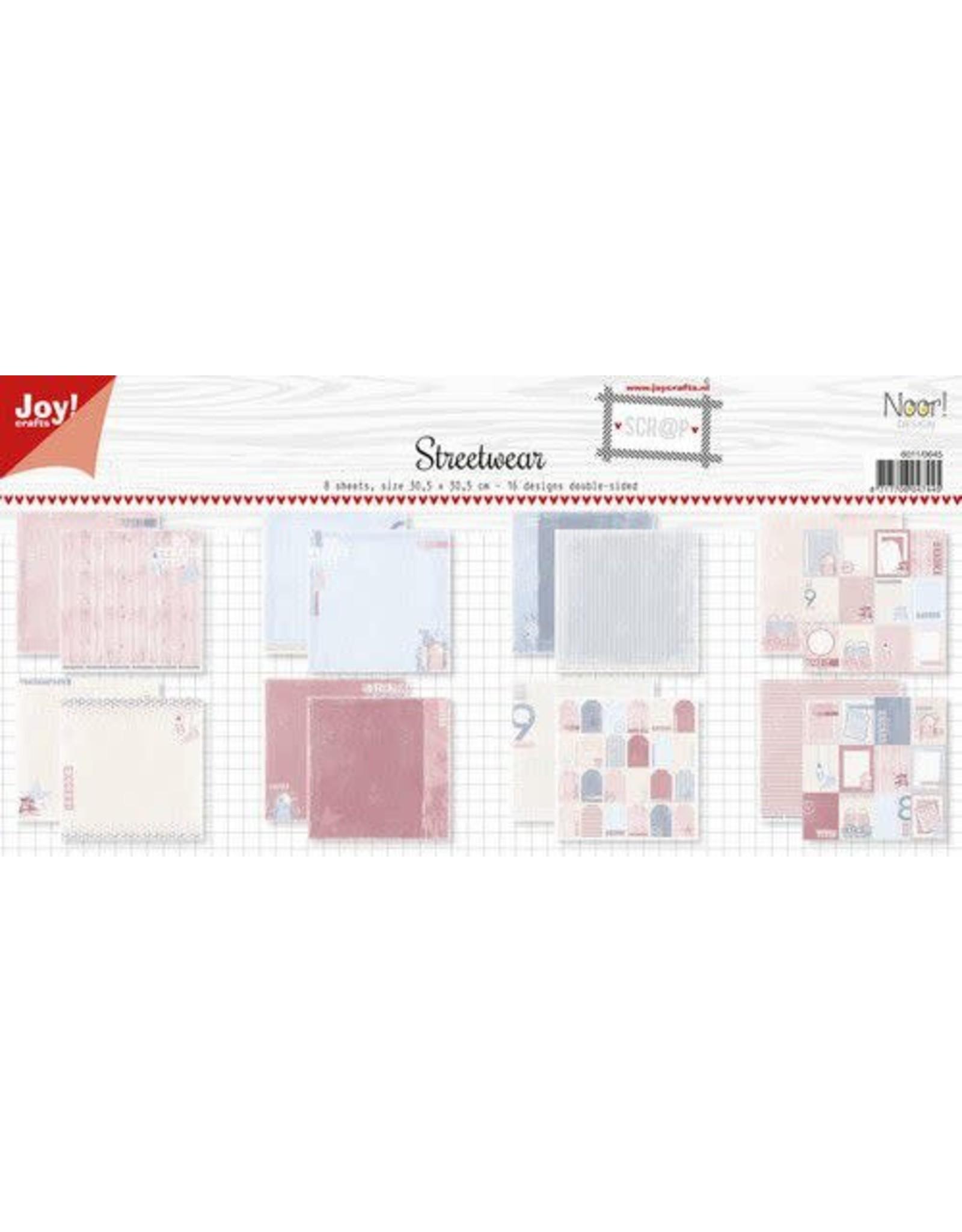 Joy Craft Joy! Crafts Papierset - Design - Noor - Meisje in Jeans 8vl 6011/0645 30,5x30,5 mm 200 gr