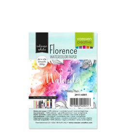 Vaessen Creative Florence • Aquarelpapier Smooth White A6 36pcs 200g