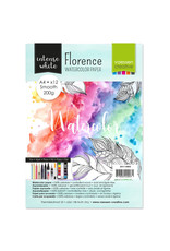 Vaessen Florence • Aquarelpapier smooth White A4 12pcs 200g