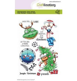 Craft Emotions CraftEmotions clearstamps A6 - Jungle Christmas Carla Creaties
