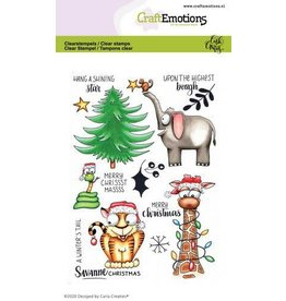 Craft Emotions CraftEmotions clearstamps A6 - Savanne Christmas Carla Creaties