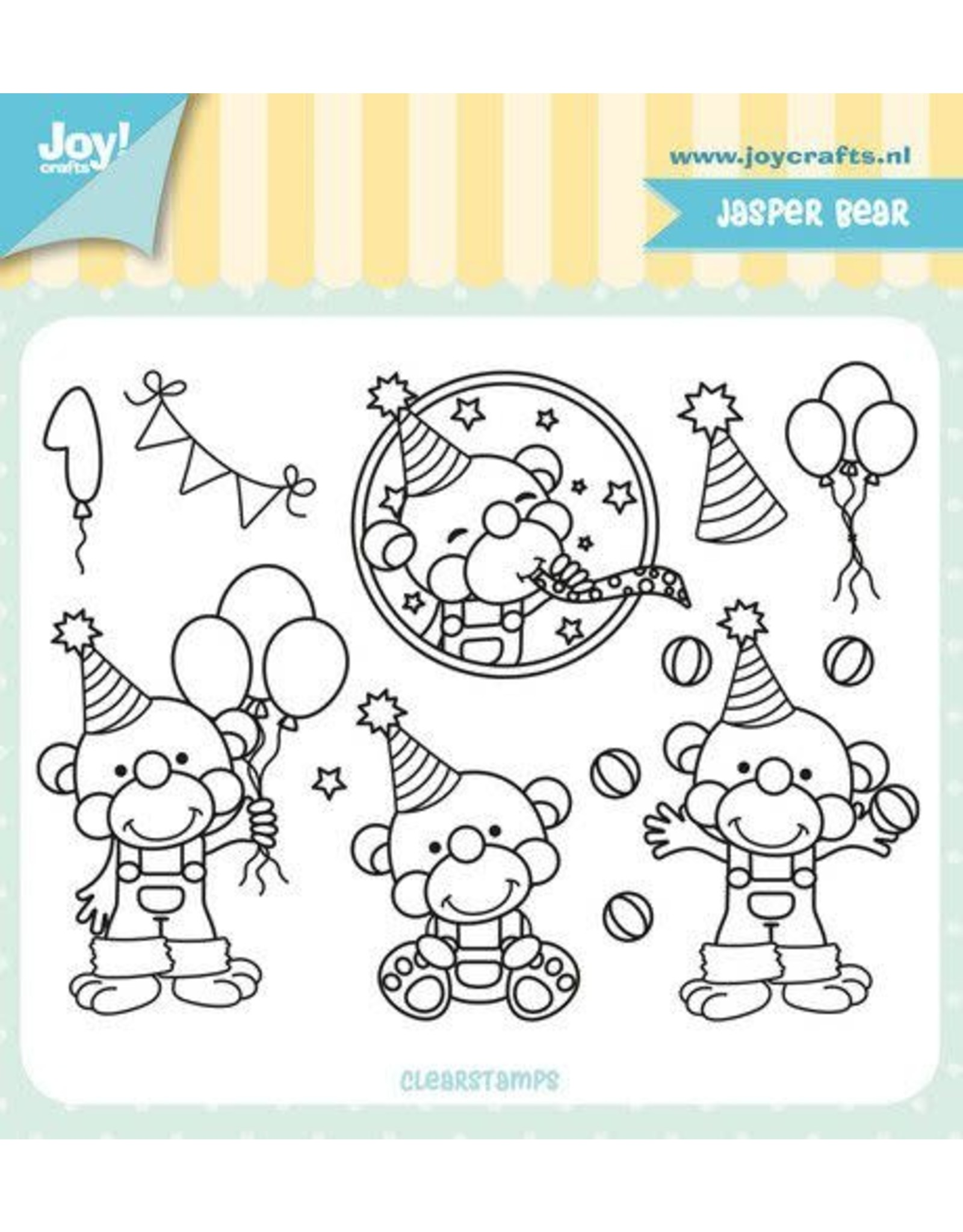 Joy Craft Joy! Crafts Clearstempel - Jocelijne - Jasper Bear 6410/0516 110x83 mm