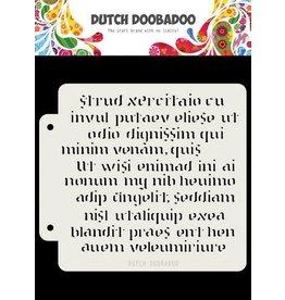 Dutch Doobadoo Dutch Doobadoo Dutch Mask Art Script 16,3x14,8cm 470.715.152