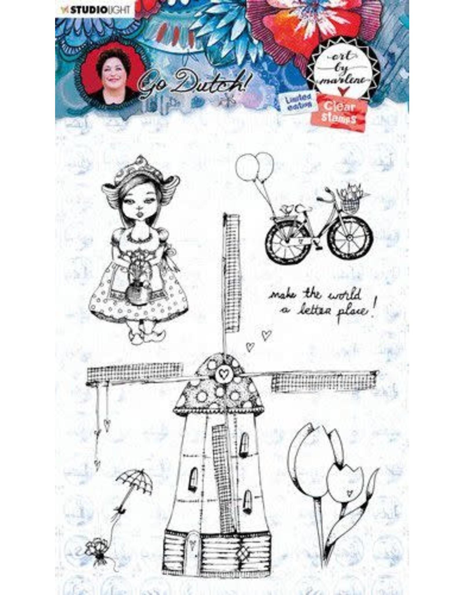 Studio Light Studio Light Clear Stamp A6 Art By Marlene Go Dutch Collection nr.55 STAMPBM55