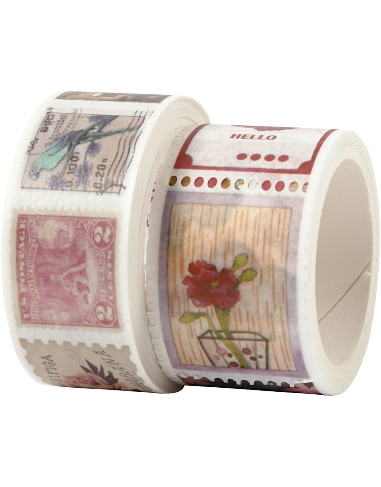creative company Washi tape postzegels/tickets 2 rol