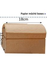 Vaessen Creative Vaessen Creative • Papier maché schatkist 18cm