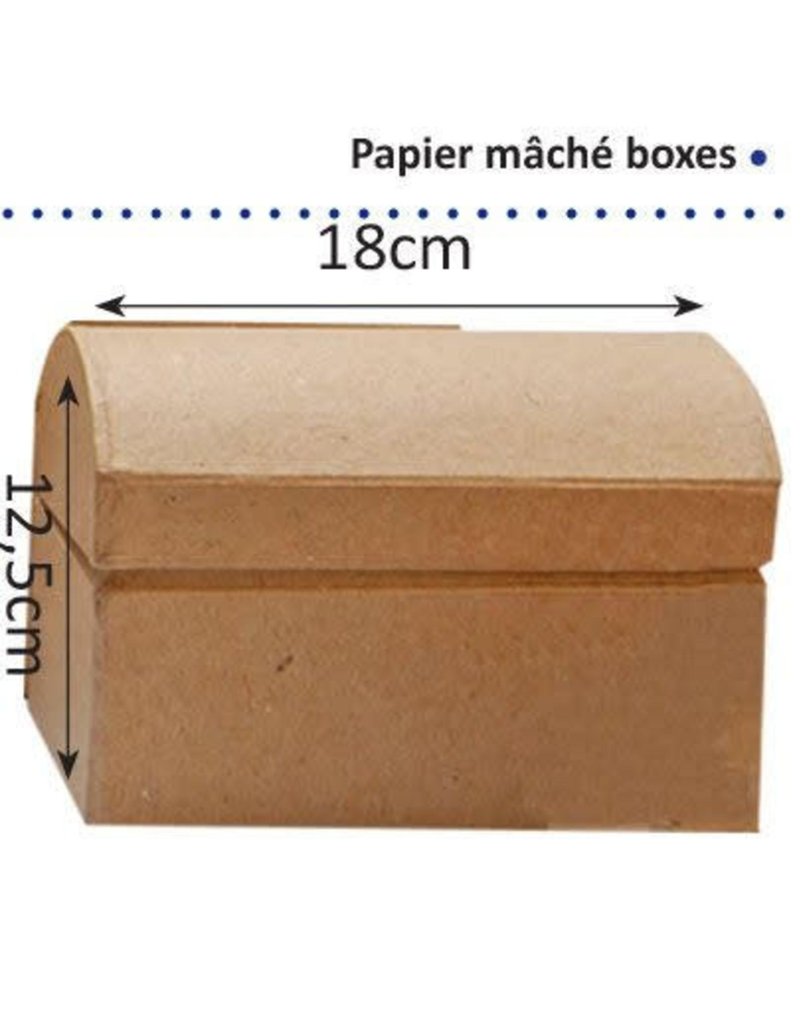 Vaessen Creative Papier maché schatkist 18cm