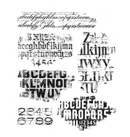 Stampers Anonymous Stampers Anonymous Tim Holtz Faded Type CMS397