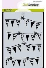 Craft Emotions CraftEmotions Mask stencil slinger vlaggetjes A6 Carla Creaties