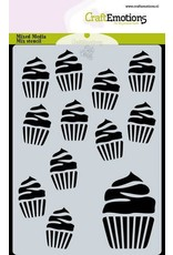 Craft Emotions CraftEmotions Mask stencil cupcakes A6 Carla Creaties