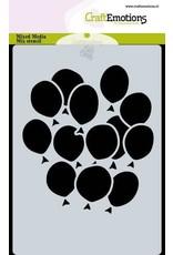 Craft Emotions CraftEmotions Mask stencil ballonnen A6 Carla Creaties