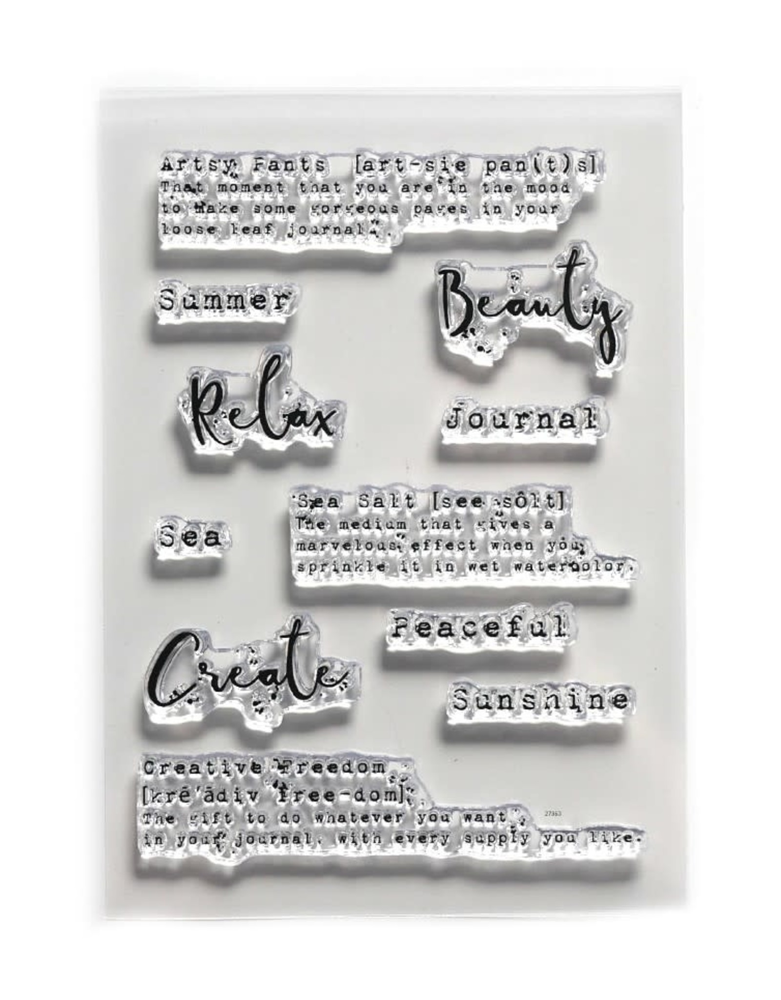 Elizabeth Craft Designs Elizabeth Craft Designs Art Journal Journal Words CS179
