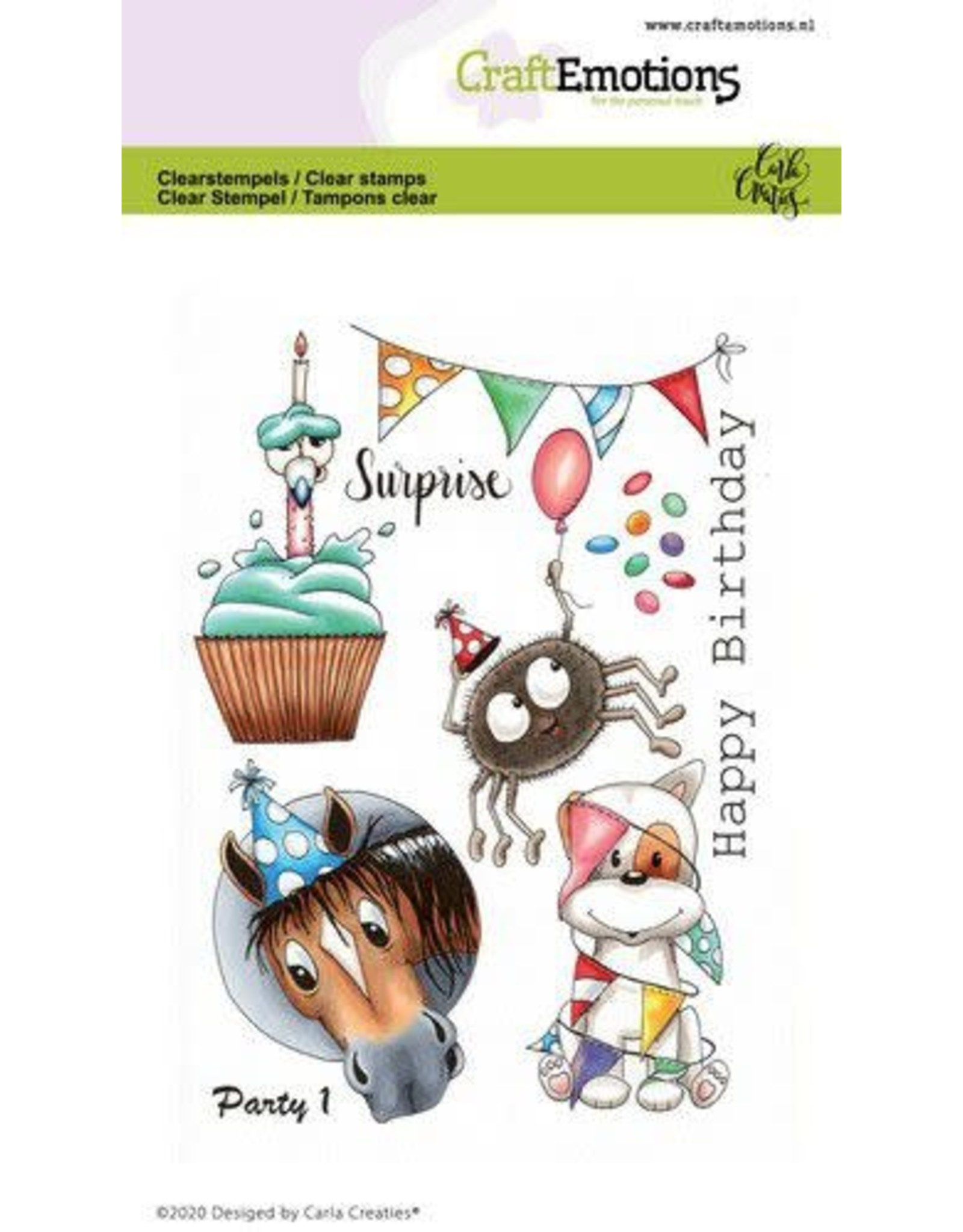 Craft Emotions CraftEmotions clearstamps A6 - Party 1 Carla Creaties
