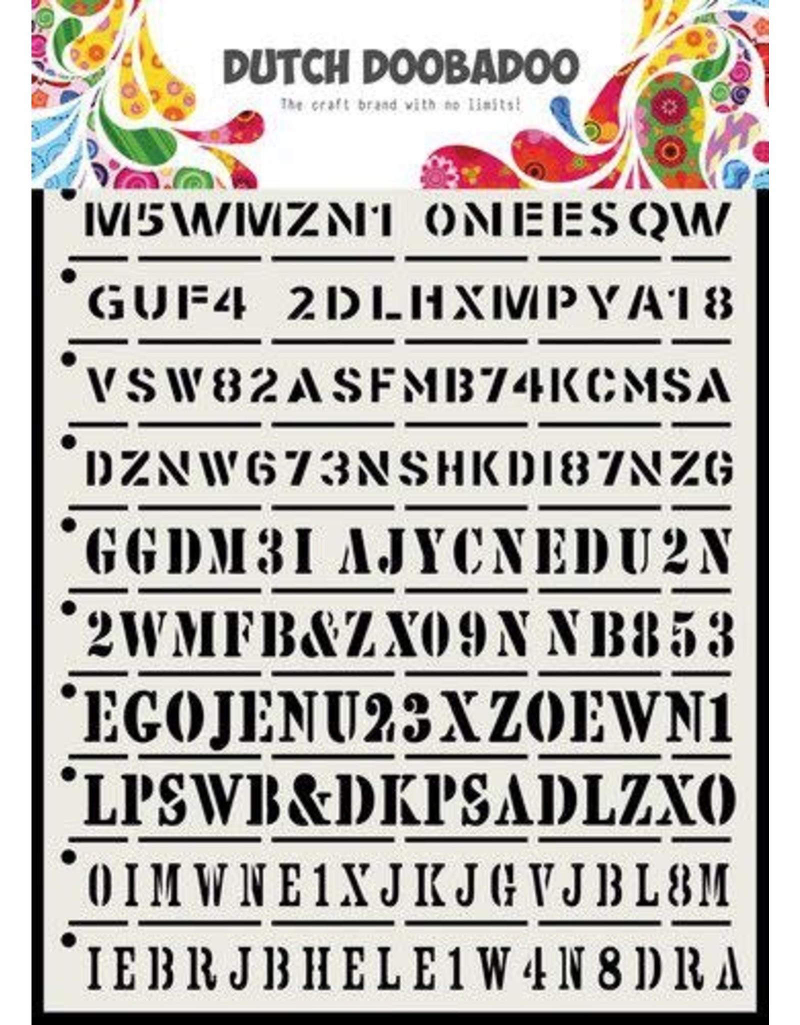 Dutch Doobadoo Dutch Doobadoo Dutch Mask Art Tekst strips A5 470.715.160