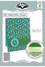 Karen Burniston Karen Burniston Pattern Plate - Fronds 1142