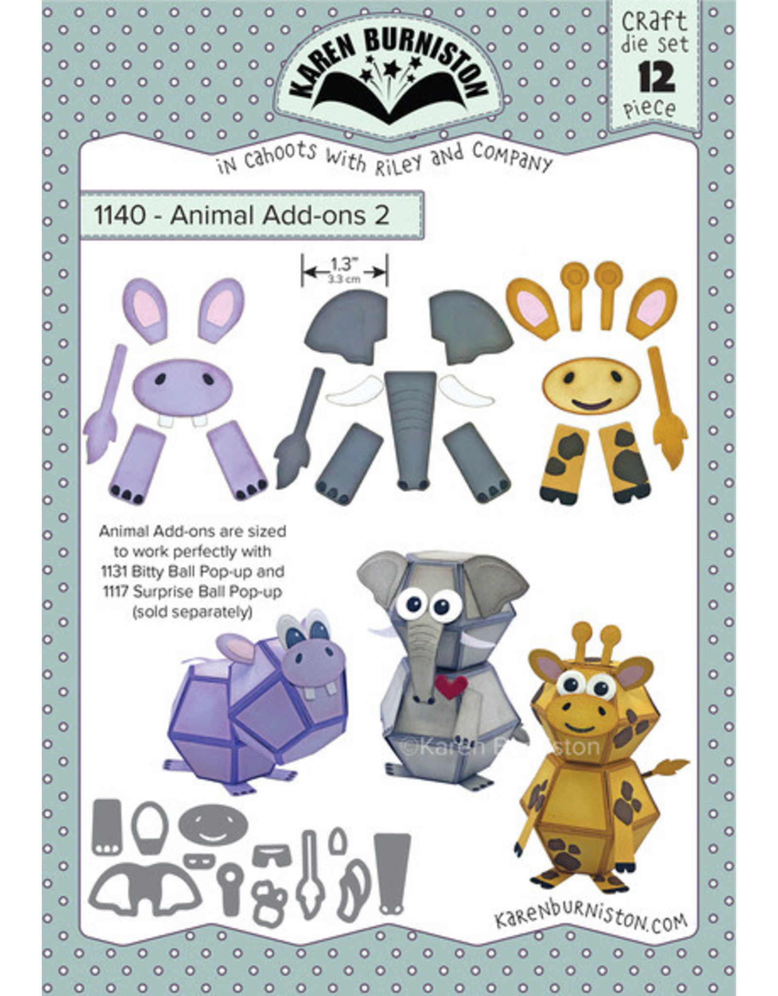 Karen Burniston Karen Burniston Animal add- Ons 2  1140