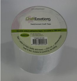 Craft Emotions CraftEmotions EasyConnect (dubbelzijdig klevend) Craft tape 15m x 100mm