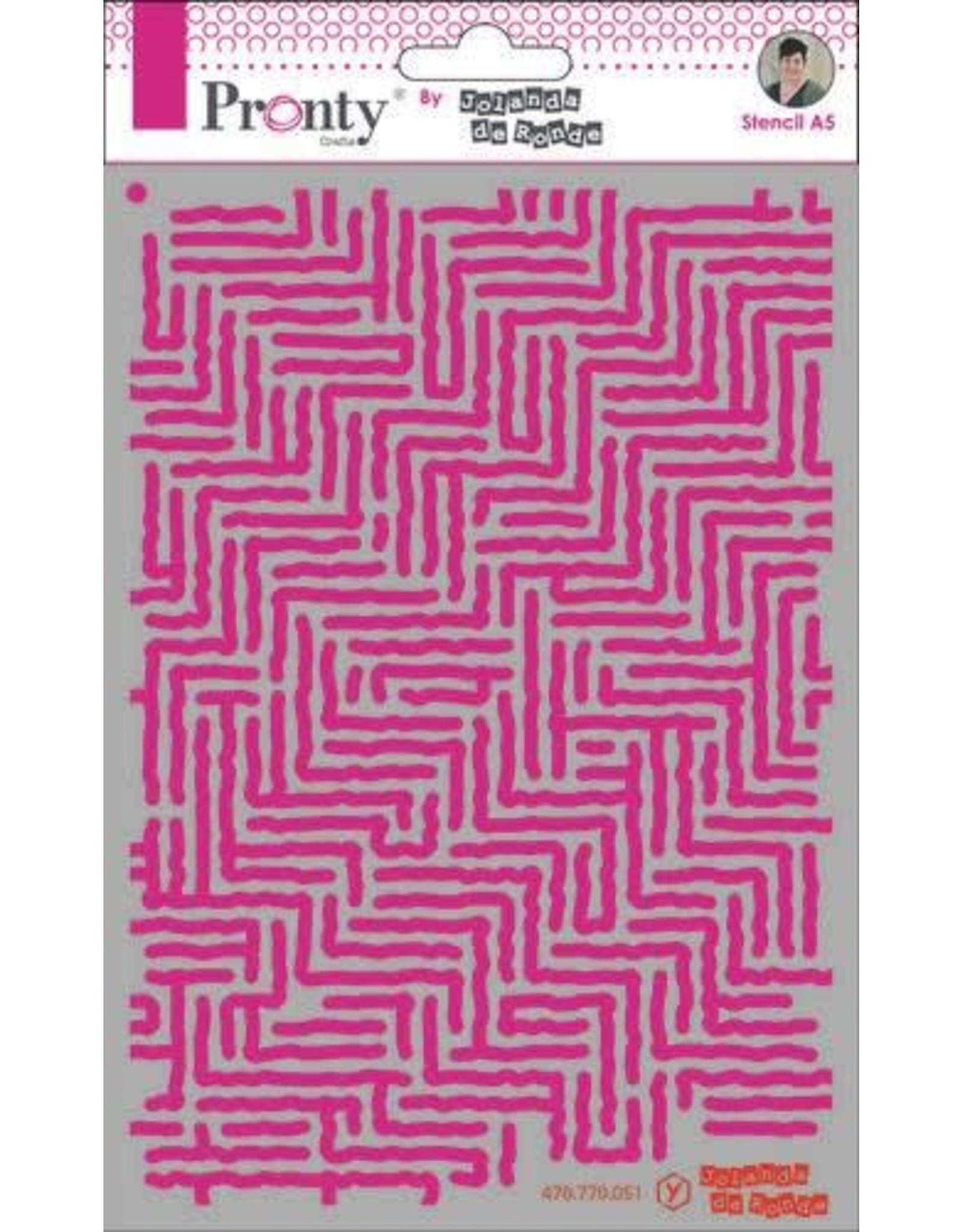 Pronty Pronty Mask Pattern stripes A5 470.770.051 by Jolanda