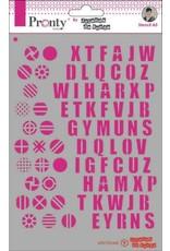 Pronty Pronty Mask Pattern Alfabets A5 470.770.045 by Jolanda