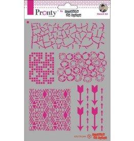 Pronty Pronty Mask Pattern backgrounds A5 470.770.044 by Jolanda
