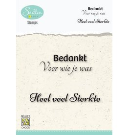 Nellie's Choice Nellie's Choice Clear Stamps - (NL) Bedankt voor wie je was… Dutch Condolence Text Clear Stamps 73x49mm