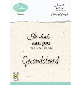 Nellie's Choice Nellie's Choice Clear Stamps - (NL) Ik denk aan jou… Dutch Condolence Text Clear Stamps 60x68mm