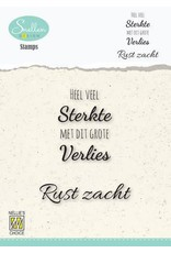 Nellie's Choice Nellie's Choice Clear Stamps - (NL) Heel veel sterkte… Dutch Condolence Text Clear Stamps 53x67mm