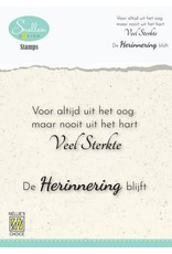 Nellie's Choice Nellie's Choice Clear Stamps - (NL) Voor altijd uit het oog… Dutch Condolence Text Clear Stamps 72x52mm