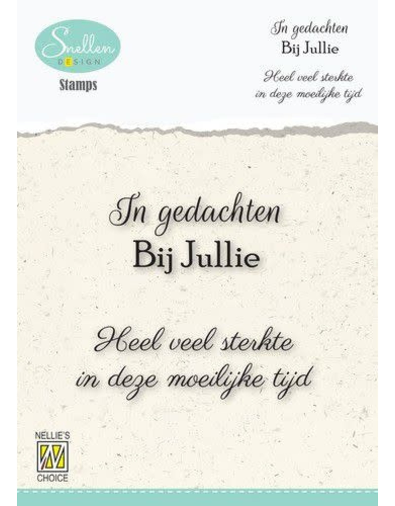 Nellie's Choice Nellie's Choice Clear Stamps - (NL) In gedachten bij jullie… Dutch Condolence Text Clear Stamps 66x58mm