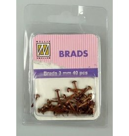 Nellie's Choice Nellie's Choice Floral brads Koper 3mm 40 ST