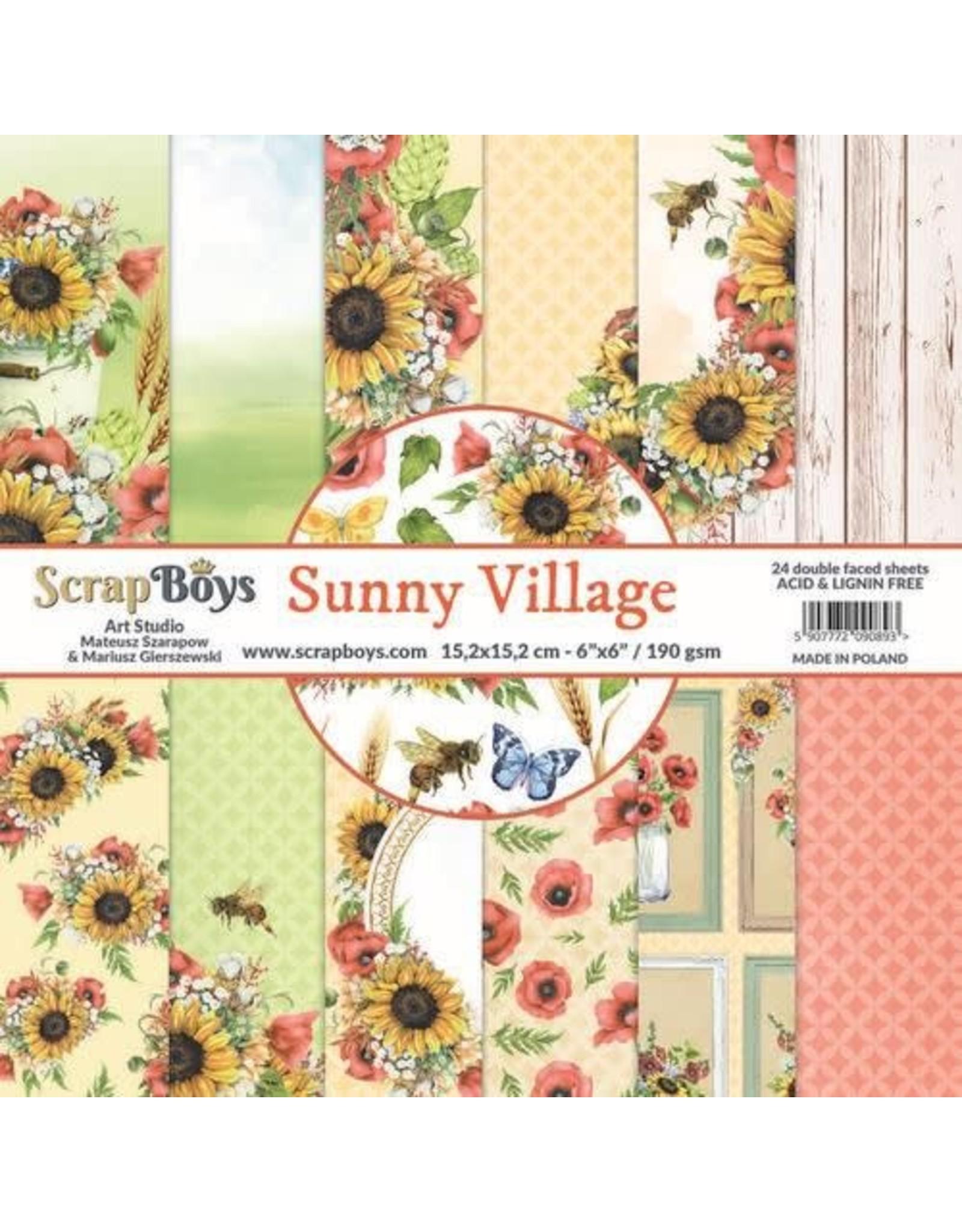 Scrapboys ScrapBoys Sunny Village paperpad 24 vl+cut out elements-DZ SUVI-09 190gr 15,2 x 15,2cm