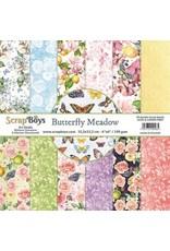 Scrapboys ScrapBoys Butterfly Meadow paperpad 24 vl+cut out elements-DZ BUME-09 190gr 15,2 x 15,2cm