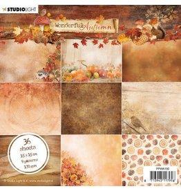 Studio Light Studio Light Paper Pad Wonderful Autumn nr.150 PPWA150 15x15cm