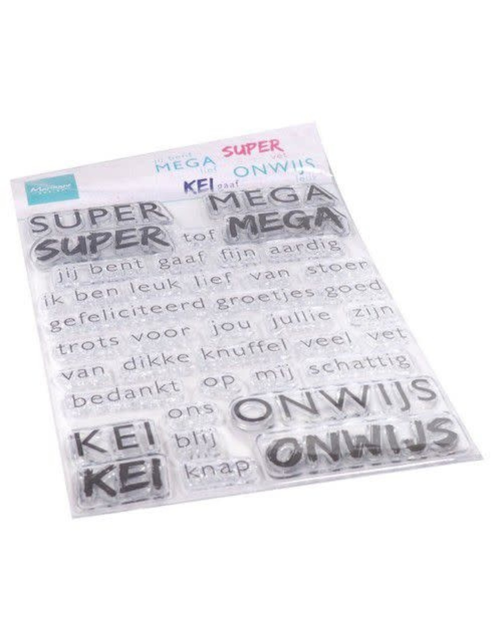 Marianne Design Marianne D Clear Stamps SUPER-MEGA-KEI-ONWIJS (NL) CS1066 110x150mm