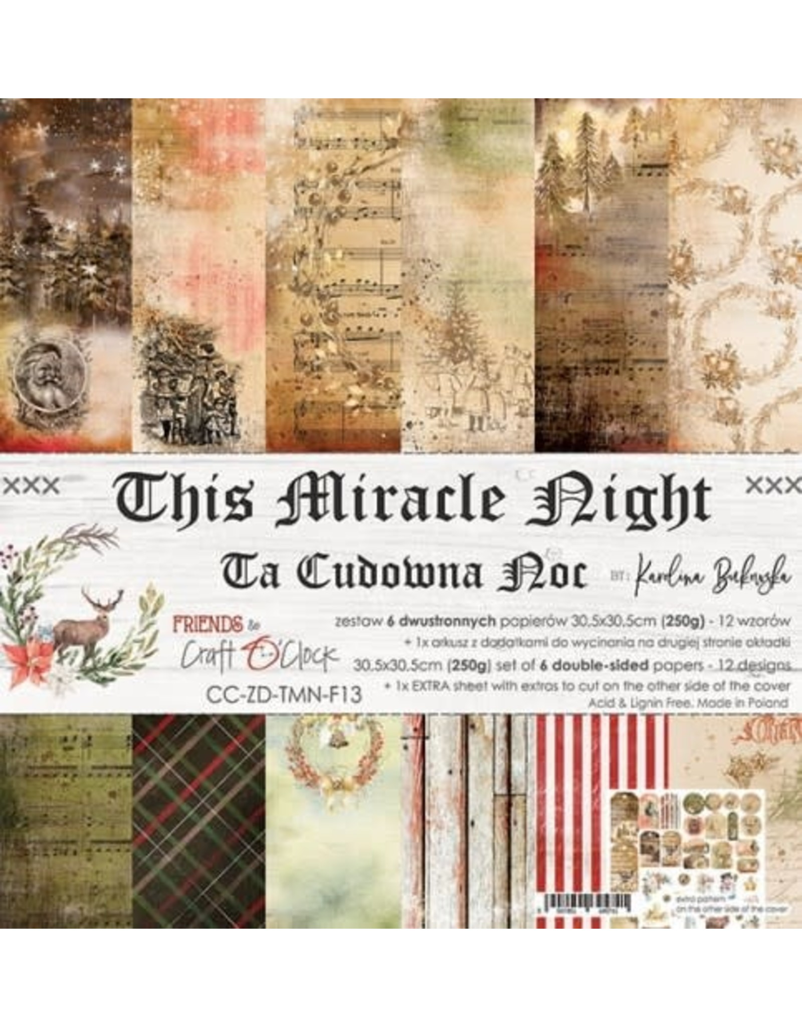 Craft O'Clock CraftO'Clock This Miracle Night  30.5 x 30.5 cm