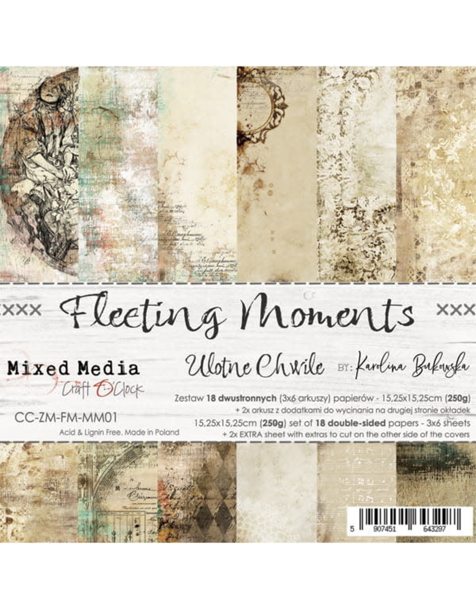 Craft O'Clock CraftO'Clock Fleeting moments paperpad 15.2 x 15.2 cm