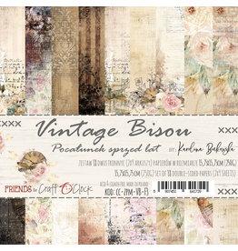 Craft O'Clock CraftO'Clock Vintage Bisou paperpads 15.2 x 15.2 cm