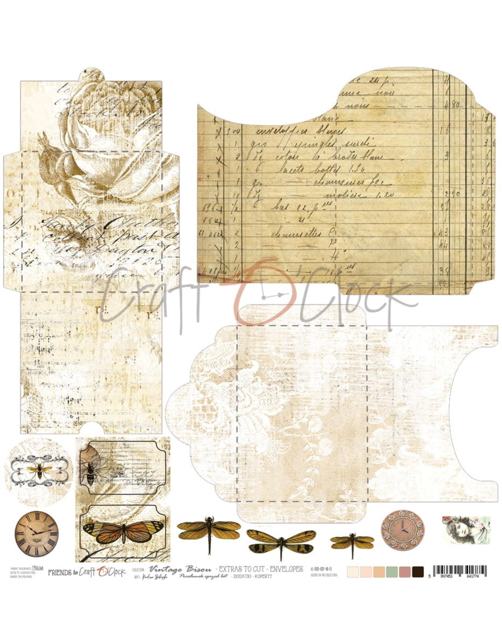 Craft O'Clock CraftO'Clock Vintage Bisou sheets with envelopes