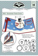 Karen Burniston snowman twist circle 1012
